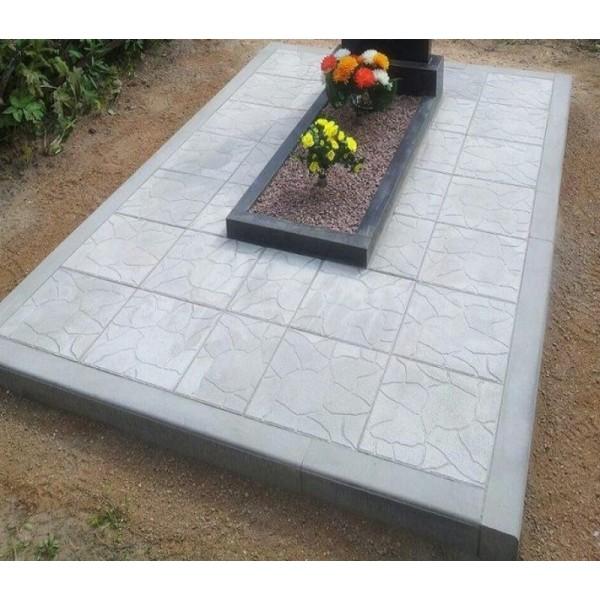 Укладка плитки на могилу (на стяжку 5см)