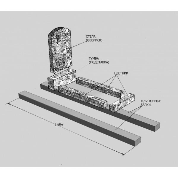 Установка гранитного памятника на могилу